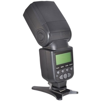 Elite Series Digital SLR Auto-Focus Power Zoom Flash with LCD Display, Bounce/Swivel for Canon DSLR (Black)