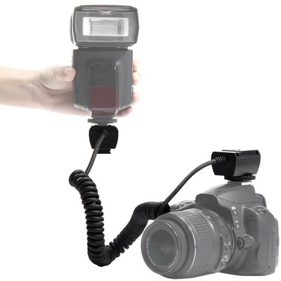 Heavy Duty Off-Camera Flash Cords That Stretch to 7.5-Feet for Canon, Black