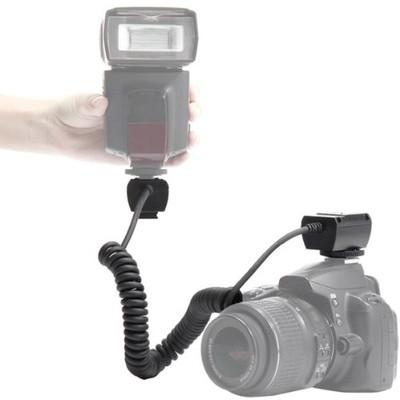 Heavy Duty Off-Camera Flash Cords that Stretch to 7.5-Feet for Nikon (Black)