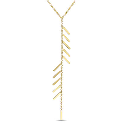 Insignia Drop Necklace in 18k Yellow Gold Plated Sterling Silver