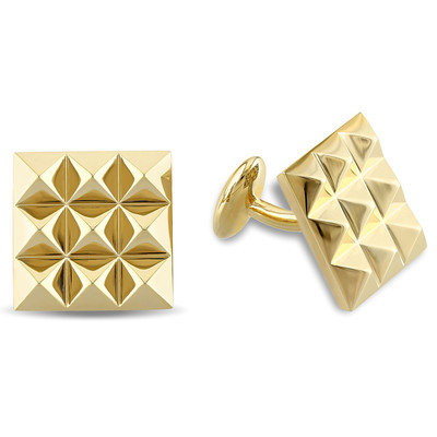 Stud Cufflinks in 18k Yellow Gold Plated Sterling Silver