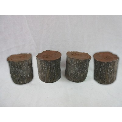 Fairy Garden - Log Stool Set Of 4