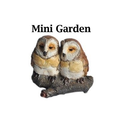 Fairy Garden - Two Owls On Branch