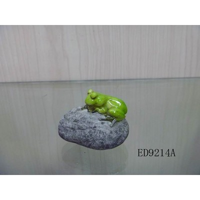 Fairy Garden - Frog Sleeps On Stone
