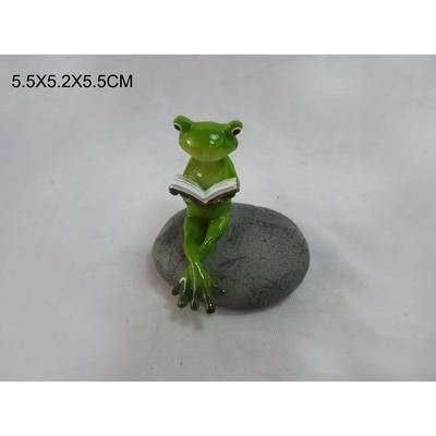 Fairy Garden - Frog Reads On Stone