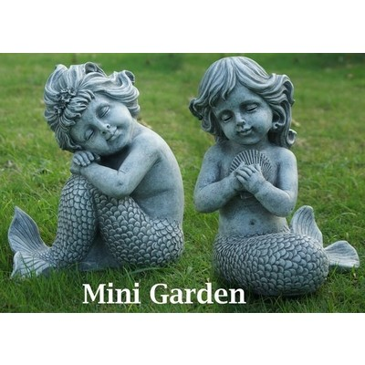 Fairy Garden - Mermaids Sitting 2 Pc Set