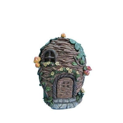 Fairy Garden - Stick House with Flowers