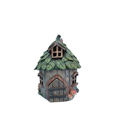Fairy Garden - House with Leaf Roof
