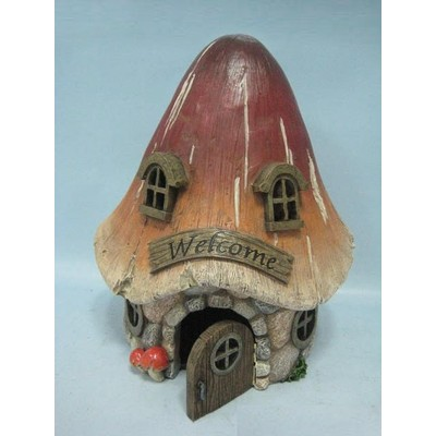 Fairy Garden - Mushroom House with Welcome