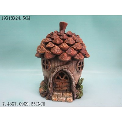 Fairy Garden - Pinecone House with Two Windows