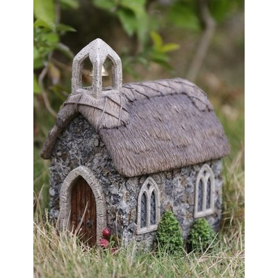 Fairy Garden - Church with Thatched Roof
