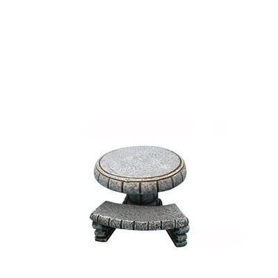 Fairy Garden - Stone Table with 3 Benches