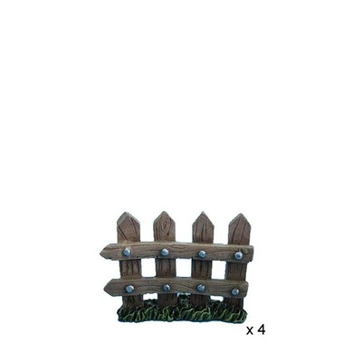 Fairy Garden - Fence 4 Piece Set Small