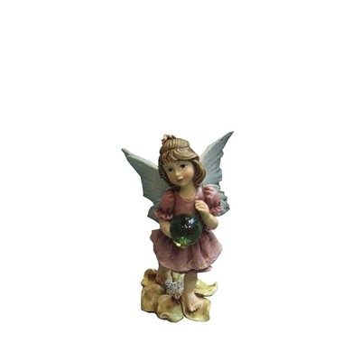 Fairy Garden - Fairy Stands On Flower/Holds Ball