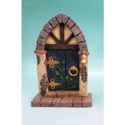 Fairy Garden - Mini Garden Blue Door with Bell And Vines
