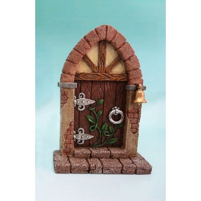 Fairy Garden - Mini Garden Brown Door with Bell And Vines