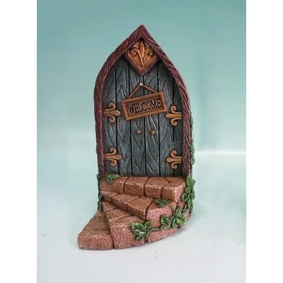 Fairy Garden - Mini Garden Blue Door with Welcome Sign