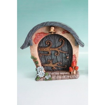 Fairy Garden - Mini Garden Blue Door with Bell And Scroll