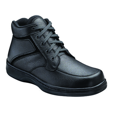 Orthopedic Footwear - Ortho Feet Lace Boot Black Medium Width Ref 481M