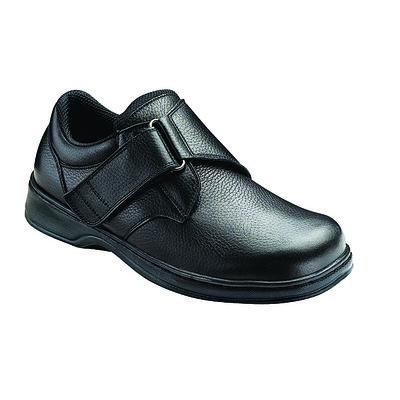 Orthopedic Footwear - Ortho Feet Hook and Loop Broadway Black Medium Width Ref 510M