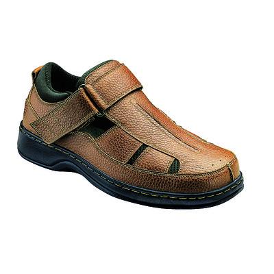 Orthopedic Footwear - Ortho Feet Men's Hook and Loop Melbourne Tan Medium Width Ref 572M