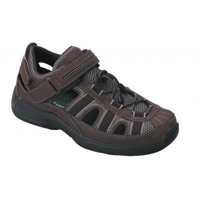 Orthopedic Footwear - Ortho Feet Men's Two Way Strap Sandal Clearwater Tan Medium Width Ref 573M