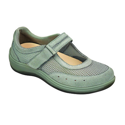 Orthopedic Footwear - Ortho Feet Women's Breathable Mesh Mary Jane - Two Way Strap Chattanooga Grey Medium Ref 853M