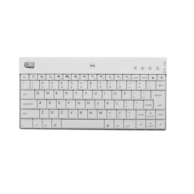 Adesso WKB-1000BW Bluetooth 3.0 Mini Keyboard for iPad 2/The New iPad