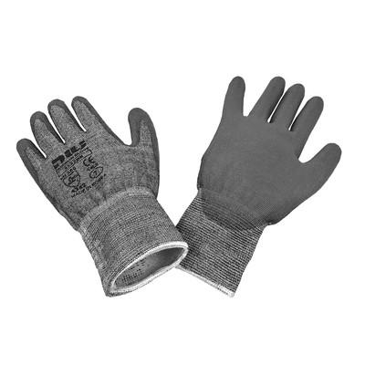 Dukwon Glove 5532DK Cut Resistance Gloves, Grey Polyurethane Palm, Salt Pepper/Grey, 6/Pack