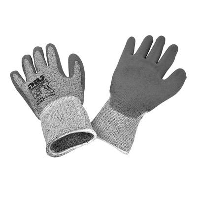 Dukwon Glove 5532K Cut Resistance Gloves, Grey Polyurethane Palm, Salt Pepper/Grey, 6/Pack