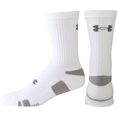 Under Armour Youth HeatGear Trainer Socks 4 pack Large(1-4)