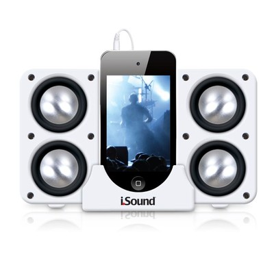 iSound Quad-X Portable Speaker System (White) (845620052196)
