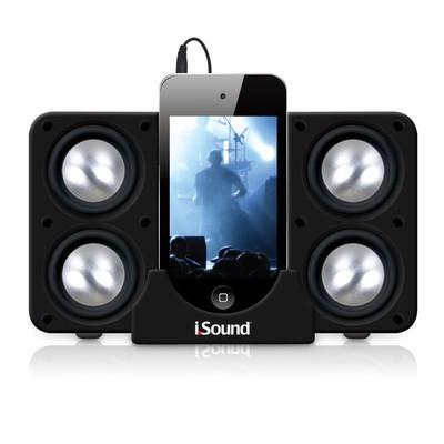 iSound Quad-X Portable Speaker System (Black) (845620052189)