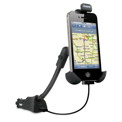 iSound USB Power Mount for iPhone, Android, BlackBerry and Smartphones (Black) (845620052028)