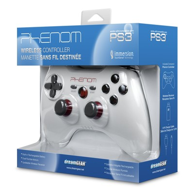 dreamGEAR Phenom Wireless Controller for PS3 - White