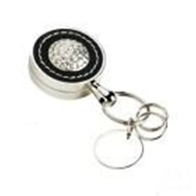 Executive Style Leather Golf Key Fob with Key Extender