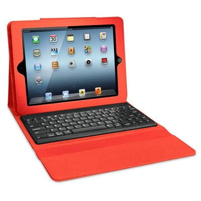 iSound Honeycomb Keyboard Case with Removable Bluetooth Keyboard for iPad 2G/3G and 4G, Red