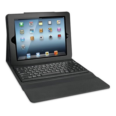 iSound Honeycomb Keyboard Case with Removable Bluetooth Keyboard for iPad 2G/3G and 4G, Black