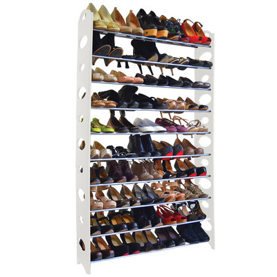 50-Pair Shoe Rack - White