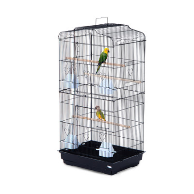 "36"" Bird Cage Macaw Play House Cockatoo Parrot Finch 2 Doors Perch Pet Supplies Black"