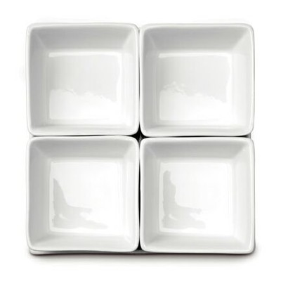 Square Bowl 4 Piece Set on Tray