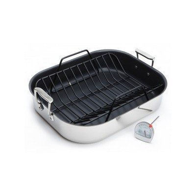 All-Clad - Stainless Roasting Pan - 13 x 16 - Non-stick - with Rack