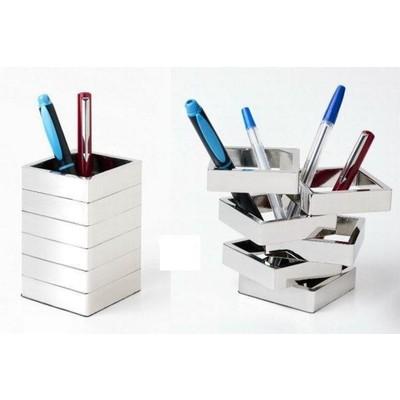 Contemporary Design Desk Square Multi Layer Pen Holder