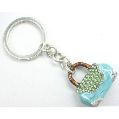 Green Handbag Shaped Key Fob