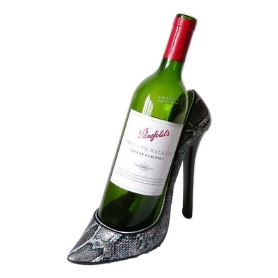 Snakeskin Stiletto Shoe Bottle Holder