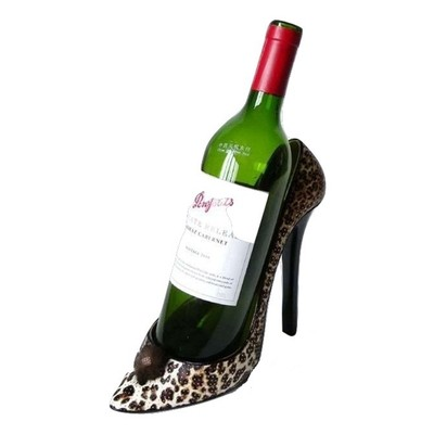 Leopard Stiletto Shoe Bottle Holder