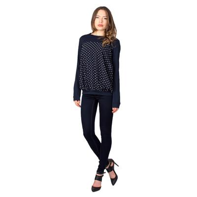 Tetiana K Women's Polka Dot Sweater, Navy Blue