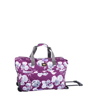 Elle Purple Print Wheeled Duffle Bag