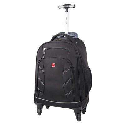 "Swiss Gear Black 15.6"" Computer Wheeled Backpack"