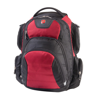 """Swiss Gear Black and Red 15.6"""" Computer Backpack"""